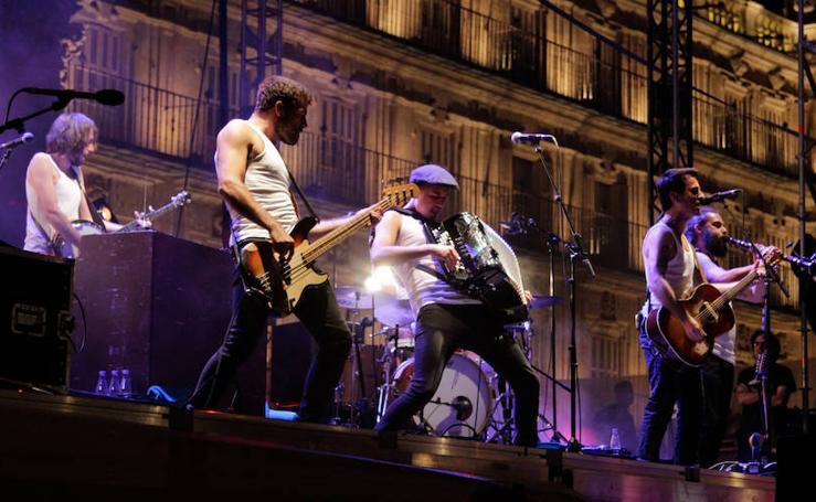 Concierto de la M.O.D.A en la Plaza Mayor de Salamanca
