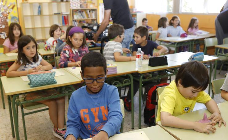 Inicio del curso escolar en el colegio Ramón Carande de Palencia