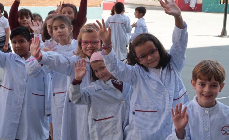 Inicio del curso escolar en el colegio Sagrado Corazón-La Anunciata de Valladolid