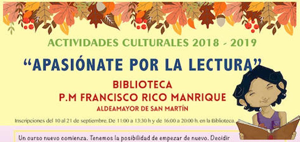 La biblioteca de Aldeamayor de San Martín abre el plazo de inscripción para sus talleres culturales