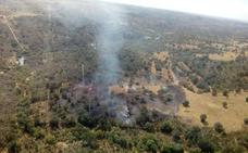 Extinguido el fuego intencionado declarado el domingo en Villasbuenas