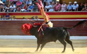 El novillero segoviano Pablo Atienza sufre una cornada de diez centímetros en el muslo