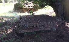 Descubren restos de un puente oculto durante un siglo en Olmos de Pisuerga