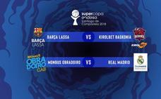 Real Madrid-Obradoiro, Barcelona-Baskonia, semifinales