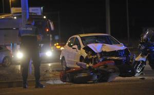 Fallece un motorista embestido por un vehículo en la ronda interior de Valladolid