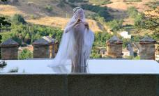 Ensayo de la coreografía 'A piedi nudi' de la Compañía Sharon Fridman en la que participan cincuenta segovianos.