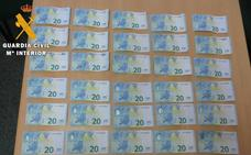 Detenidos por intentar pagar con billetes falsos en la comarca de Aguilar