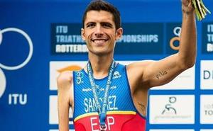El triatleta salmantino Álex Sánchez Palomero, subcampeón del mundo en Australia
