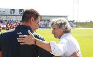 Aguirre: «Le regalamos el primer tiempo al Real Madrid Castilla con esos errores tan rápidos»