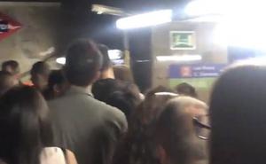 Varios heridos en el Metro de Madrid al explotar el ordenador de una pasajera