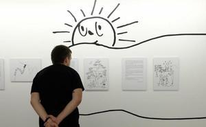 Una exposición en el Teatro Zorrilla muestra la faceta de ilustrador de Miguel Delibes