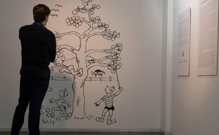 El Teatro Zorrilla de Valladolid acoge la exposición 'Miguel Delibes ilustrador. Los dibujos de El Camino'