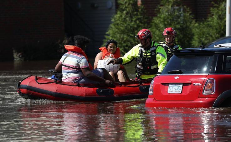 El paso del huracán Florence por EE UU, en imágenes