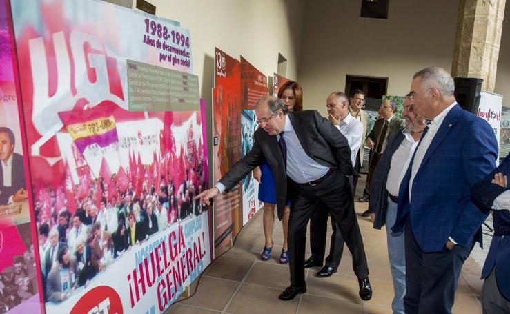 UGT inaugura en Valladolid la exposición '130 años de luchas y conquistas'