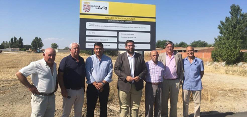 La Diputación de Ávila mejora la carretera entre Bercial y Bernuy de Zapardiel con una insversión de 300.000 euros