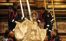 La Virgen de la Fuencisla llega a la catedral para su novenario