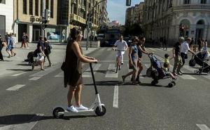 Valladolid se fija en la norma de Barcelona para regular el uso del patinete eléctrico