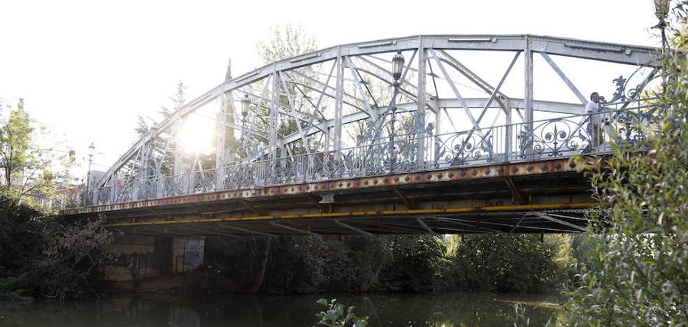 El Puente de Hierro de Palencia reclama un lavado de cara para festejar sus 110 años
