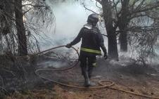 Un rayo provoca un incendio en Peñaflor de Hornija