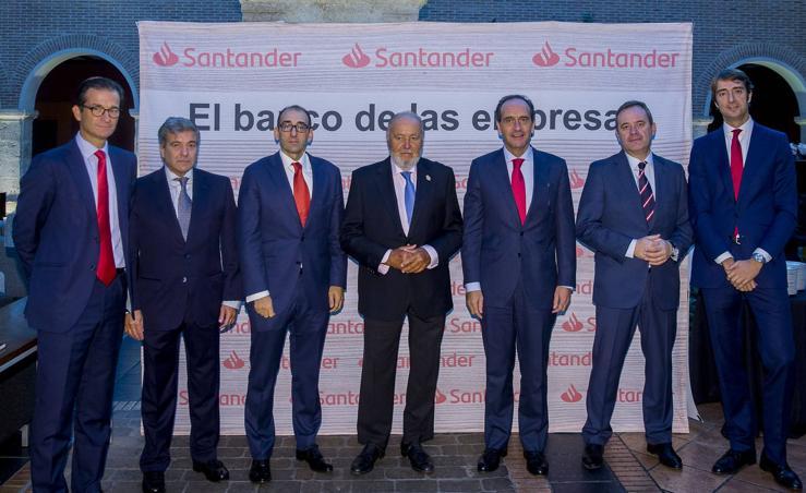 Encuentro empresarial organizado por el Banco Santander en Valladolid