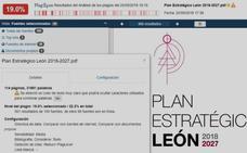 El Plan Estratégico de León es una copia en un 19% y contiene datos de Aragón