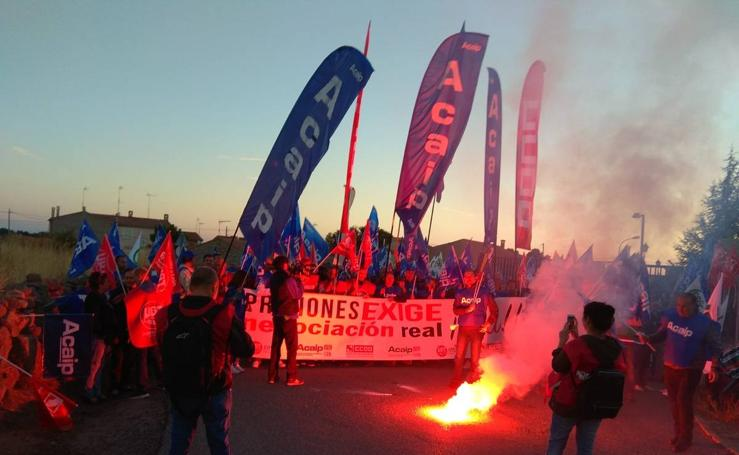Manifestación de funcionarios en la cárcel de Brieva