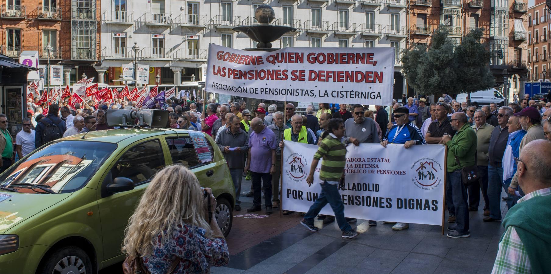 Concentración en Fuente Dorada en defensa del sistema público de pensiones