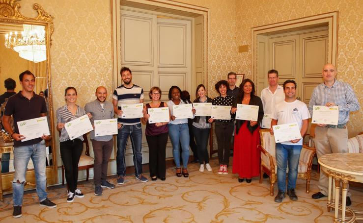 Entrega de diplomas del II Coworking de Salamanca