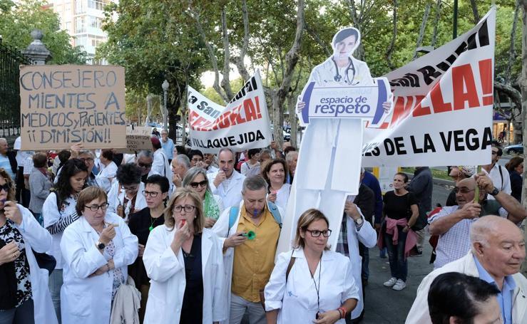 Manifestación en Valladolid para reclamar más medios para la sanidad rural