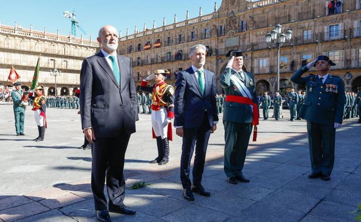 El ministro Grande-Marlaska preside lo actos de la Guardia Civil en Salamanca