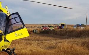 Tres heridos en un accidente de tráfico en Huerta