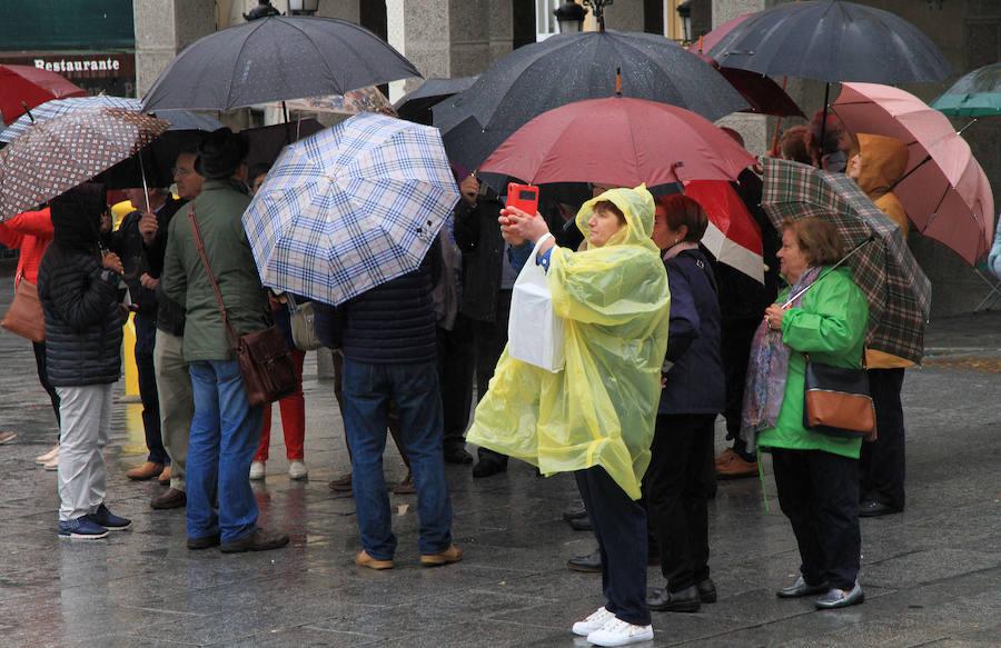 Lluvia en Segovia