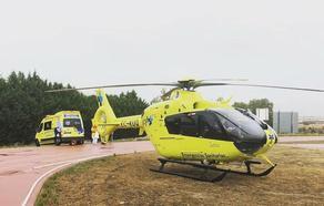 Trasladado en helicóptero al hospital tras caerse de una escalera en Vitigudino