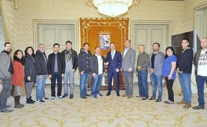 Recepción a los participantes en el seminario internacional de Aikido en Salamanca