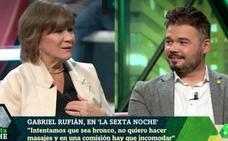 Gabriel Rufián deja en blanco a Nativel Preciado