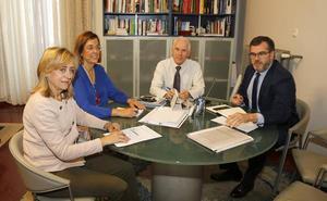 La Diputación de Palencia y la Junta coordinan informaciones sobre la sanidad rural