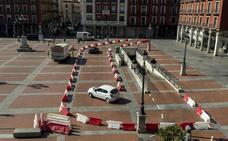 Puente asegura que la obra de los accesos del parking de la Plaza Mayor «sigue su curso»