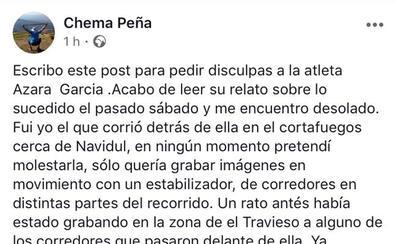 El atleta Chema Peña se disculpa con Azara García por el 'incidente' del Ultrail La Covatilla