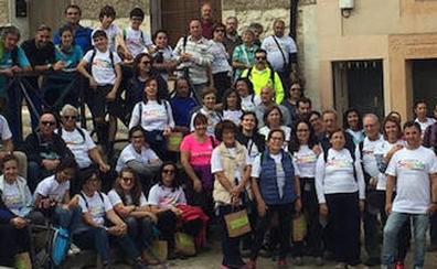 La ruta de Caballar a Puebla de Pedraza reúne a 120 peregrinos en torno a San Frutos