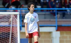 Nico, alevín del Santa Marta, se encuentra esta semana a prueba con el Villarreal