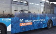 Segovia prueba el primer autobús con televisión 4k y tecnología 5G