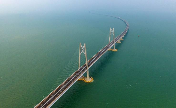 El puente más largo del mundo sobre el mar