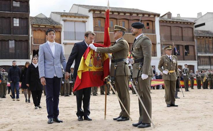 Jura de bandera en Peñafiel