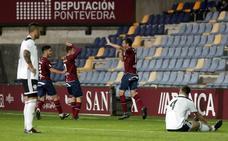 Caída sin frenos del Salamanca CF en Pontevedra (2-0)