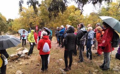 Arcones recibe a medio centenar de senderistas