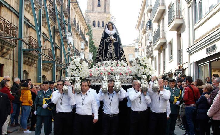 Procesión extraordinaria de Nuestra Señora de la Soledad en Salamanca