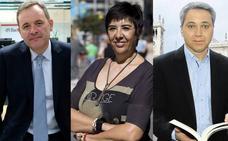 Ángel Ortiz, Nieves Concostrina y Vicente Vallés, en el jurado del XXII Premio Nacional de Periodismo Miguel Delibes