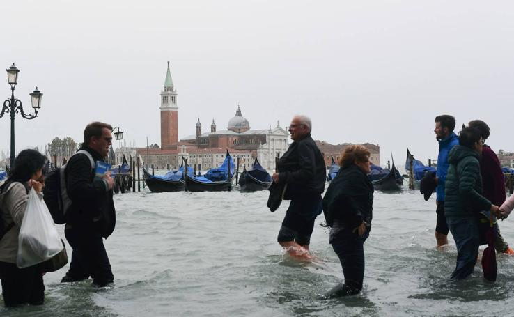 Las inundaciones de Venecia, en imágenes