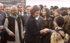Una visita a Valladolid en 2011, entre los ochenta momentos más importantes de la vida de Doña Sofía