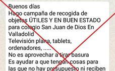 El centro San Juan de Dios de Valladolid desmiente un bulo que circula por Whatsapp